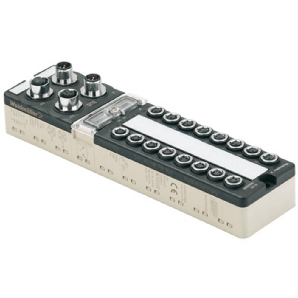 Sensor/Aktorbox aktiv M8-fordeler med metalgevind SAI-AU M8 CAN 16DI/8DO 1906690000 Weidmüller 1 stk