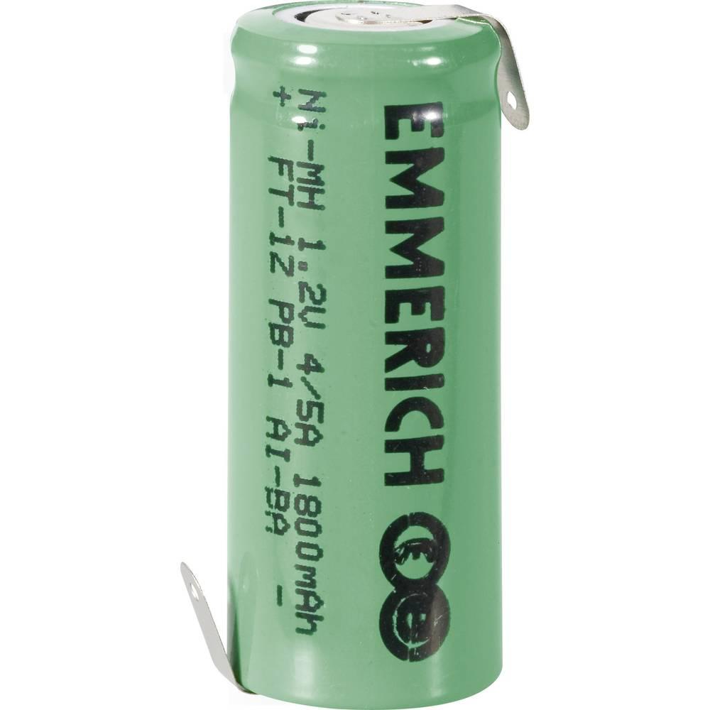 Emmerich 4/5 A NiMH-akumulator, ZLF 1.2 V 1800 mAh ( x V) 17 mm x 43 mm