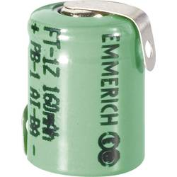 NiMH akumulator Emmerich 1/3 AAA Z-spajkalni priključek 1.2 V 160 mAh (Ø x V) 10.5 mm x 15.4 mm