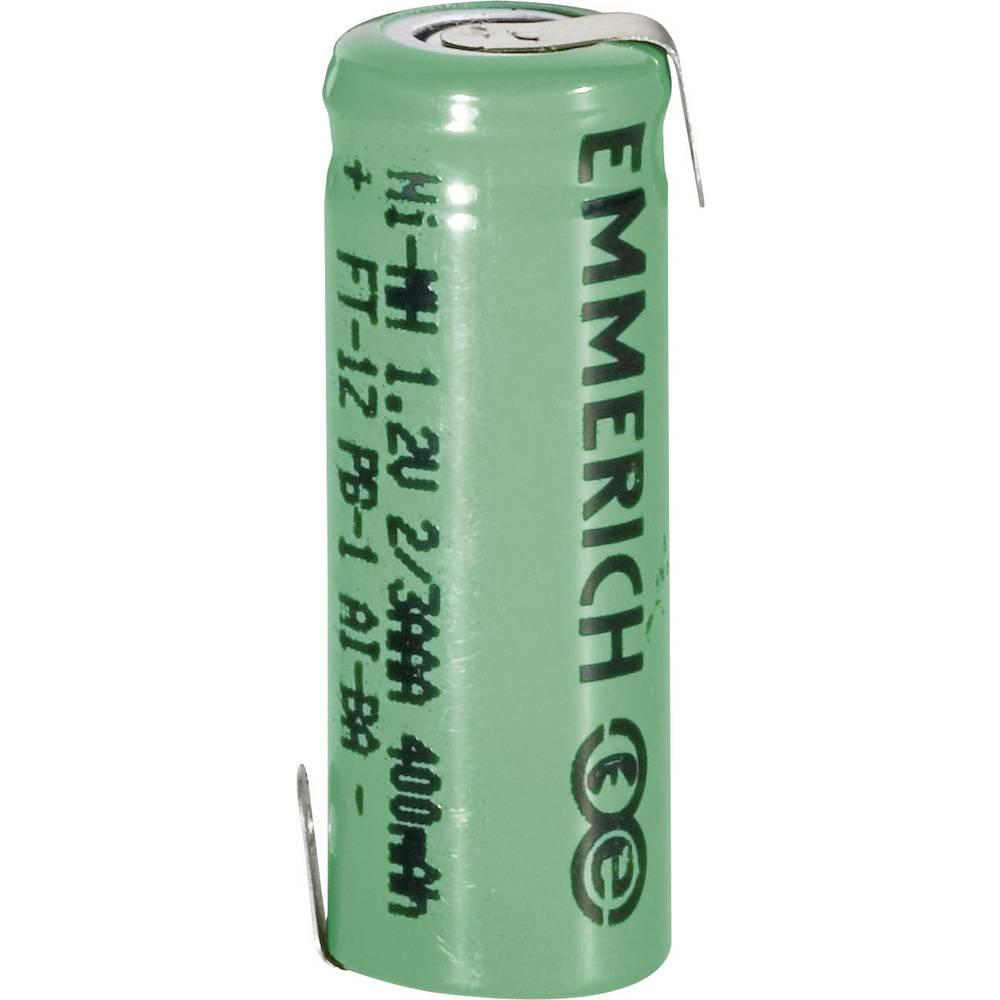Emmerich 2/3 AAA NiMH-akumulator, ZLF 1.2 V 400 mAh ( x V) 10.5 mm x 29 mm
