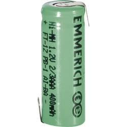 NiMH akumulator Emmerich 2/3 AAA Z-spajkalni priključek 1.2 V 400 mAh (Ø x V) 10.5 mm x 29 mm