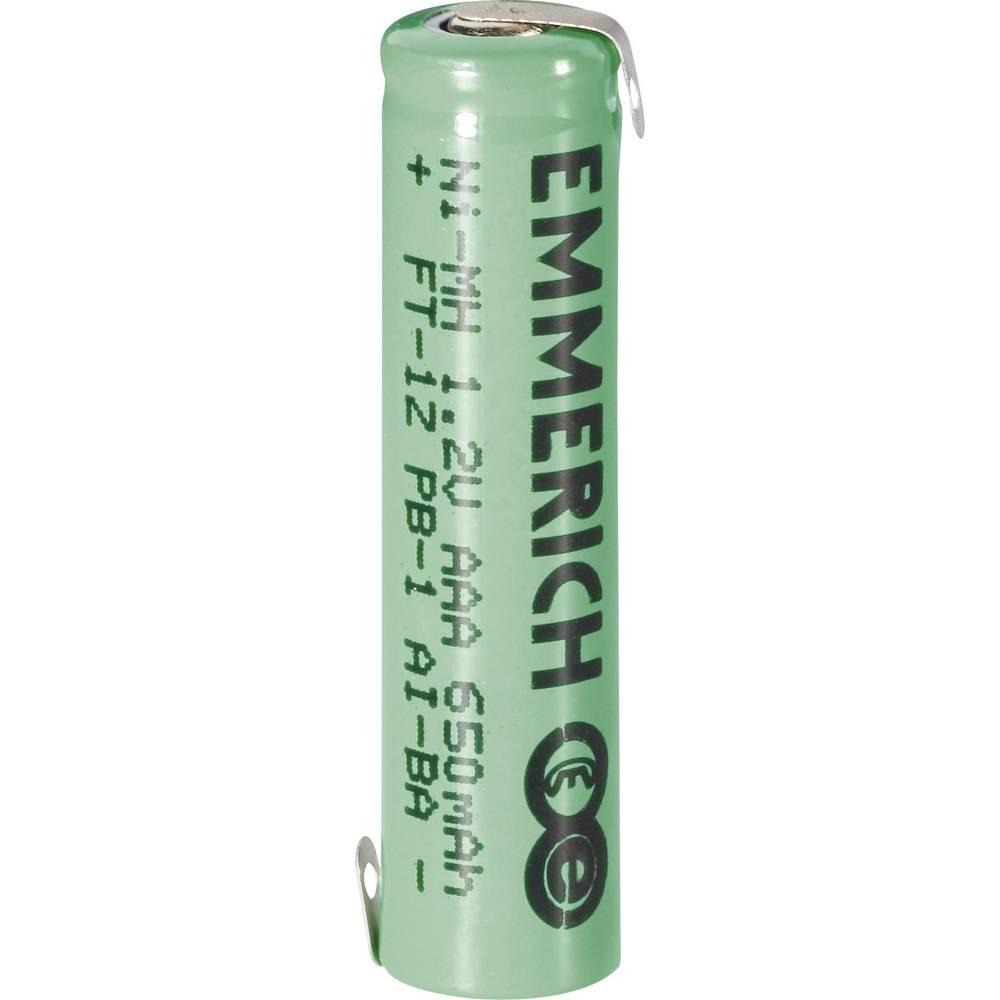 Emmerich AAA NiMH-akumulator, ZLF 1.2 V 650 mAh ( x V) 10.5 mm x 43.5 mm