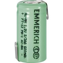 Emmerich 2/3 AA NiMH-akumulator, ZLF 1.2 V 600 mAh ( x V) 14.5 mm x 29 mm