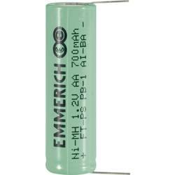 Emmerich AA NiMH-akumulator, Lötpins 1.2 V 700 mAh ( x V) 14.5 mm x 49.5 mm