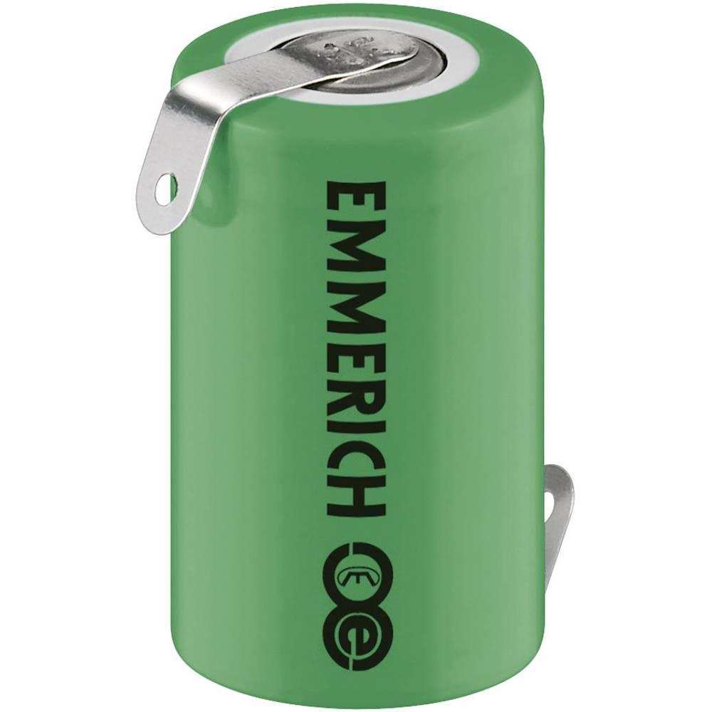 NiMH akumulator Emmerich 1/2 A Z-spajkalni priključek 1.2 V 950 mAh (Ø x V) 17 mm x 27.5 mm