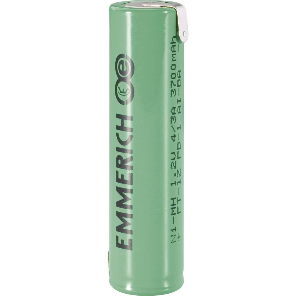 NiMH akumulator Emmerich 4/3 A Z-spajkalni priključek 1.2 V 3700 mAh (Ø x V) 17 mm x 67 mm