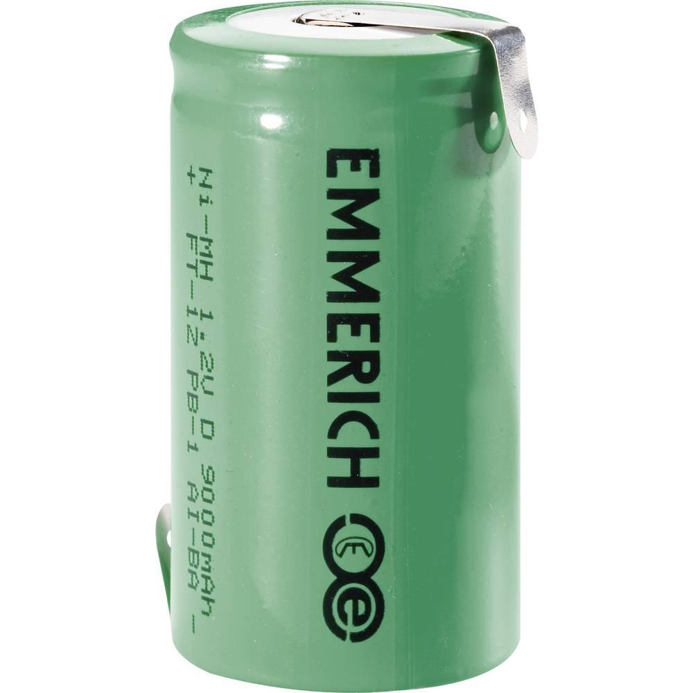NiMH akumulator Emmerich D Z-spajkalni priključek 1.2 V 9000 mAh (Ø x V) 32.5 mm x 61 mm