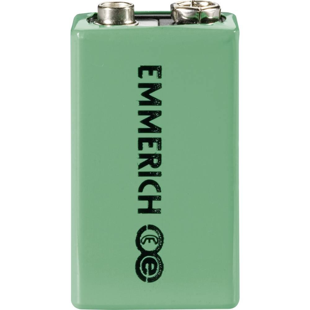 9 V Block akumulator NiMH Emmerich 6LR61 200 mAh 9.6 V 1 kos