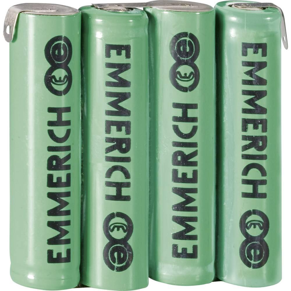 NiMH akumulatorski komplet Emmerich Micro 4, 8 V, Z-spajkalni priključek 800 mAh (D x Š x V) 43 x 10.5 x 44.5 mm