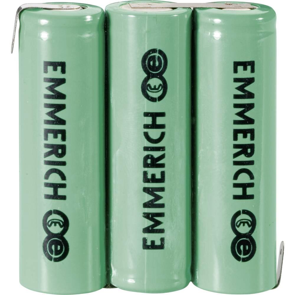 NiMH akumulatorski komplet Emmerich Mignon 3, 6 V, Z-spajkalni priključek 1500 mAh (D x Š x V) 44.5 x 14.5 mm x 50.5 mm
