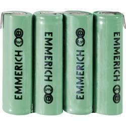 Emmerich NiMH akumulatorski paket Mignon 4,8 V, ZLF 1500 mAh (D x Š x V) 59 x 14.5 x 50.5 mm