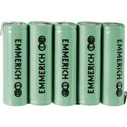 Emmerich NiMH akumulatorski paket Mignon 6 V, ZLF 1500 mAh (D x Š x V) 73.5 x 14.5 x 50.5 mm