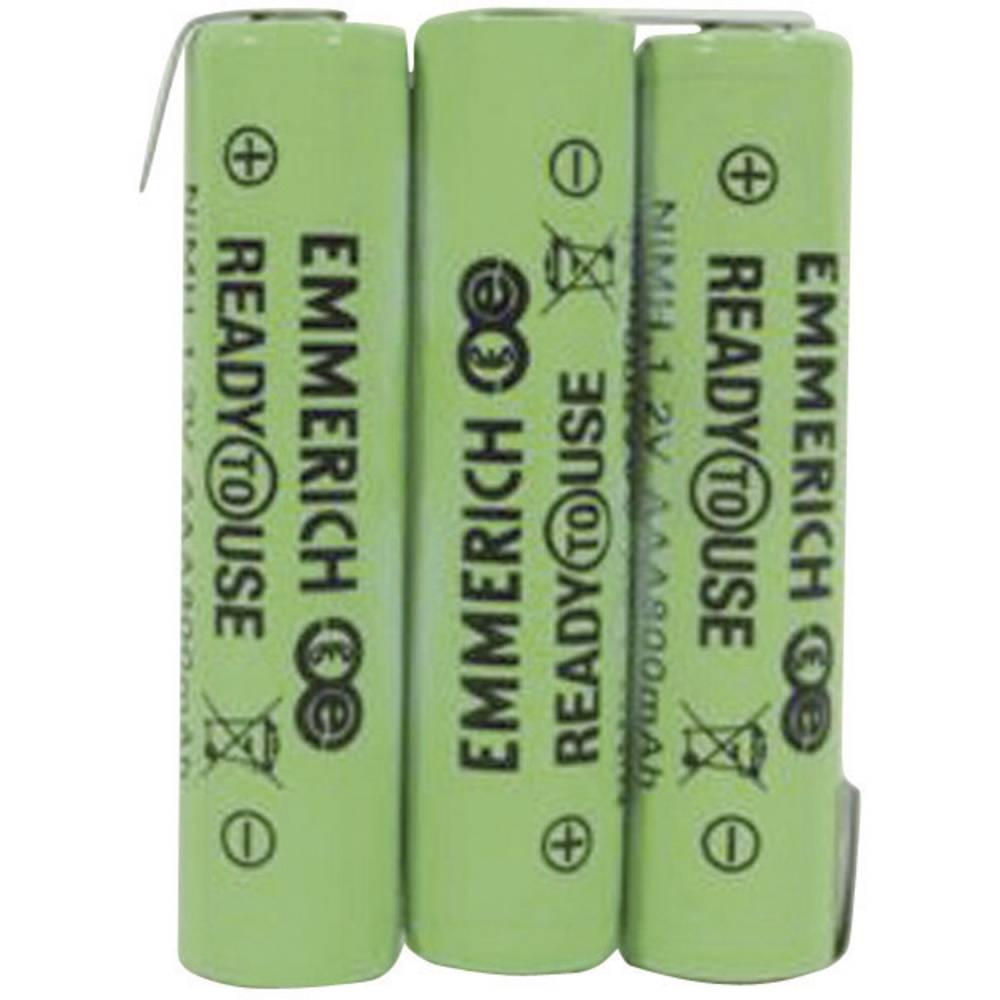 Akumulatorski paket Emmerich Ready to Use Micro 3, 6 V, Z-spajkalni priključek 800 mAh (D x Š x V) 32.5 x 10.5 x 44.5 mm