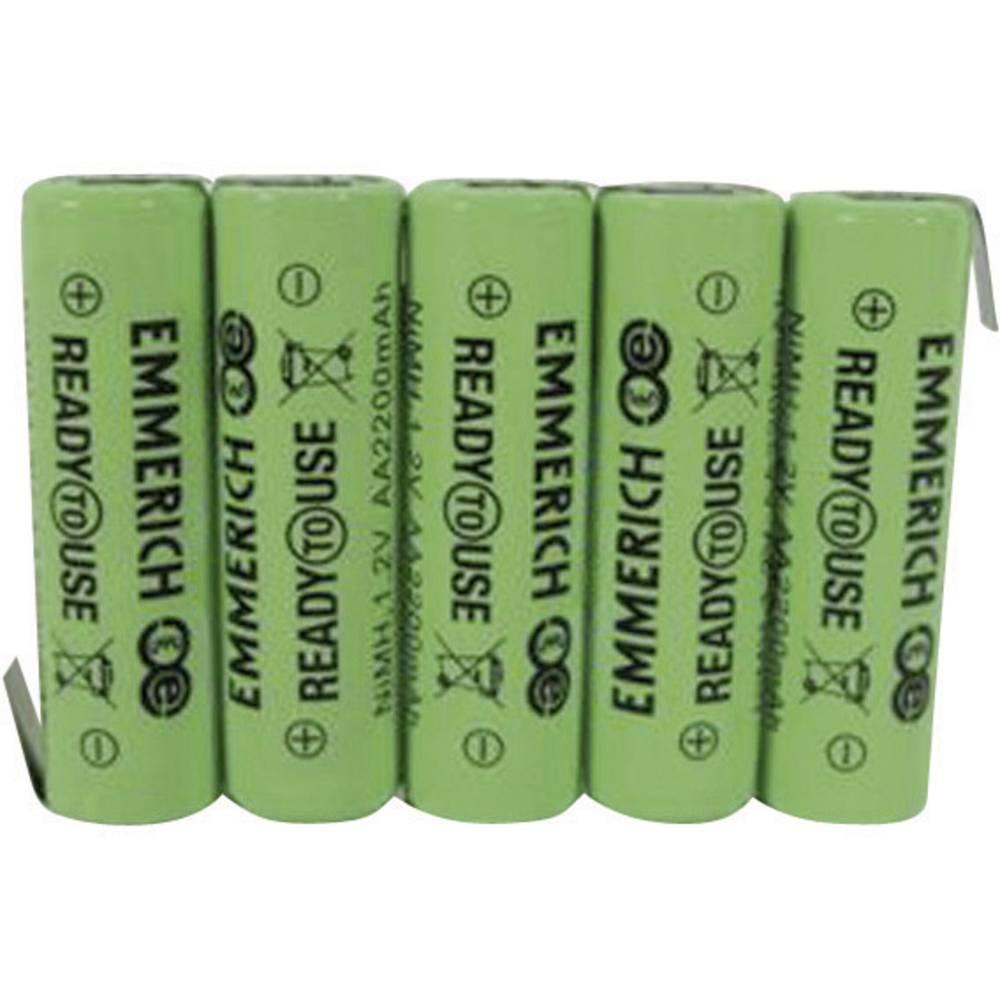 Akumulatorski paket Emmerich Ready to Use Mignon 6 V, Z-spajkalni priključek 2200 mAh (D x Š x V) 73.5 x 14.5 x 50.5 mm