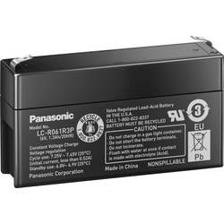 Svinčev akumulator 6 V 1.3 Ah Panasonic 6 V 1, 3 Ah LC-R061R3P svinčevo-koprenast (AGM) 97 x 50 x 24 mm ploščati vtič 4.8 mm