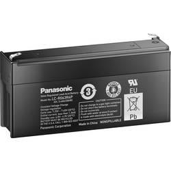 Svinčev akumulator 6 V 3.4 Ah Panasonic 6 V 3, 4 Ah LC-R063R4P svinčevo-koprenast (AGM) 134 x 60 x 34 mm ploščati vtič 4.8 mm