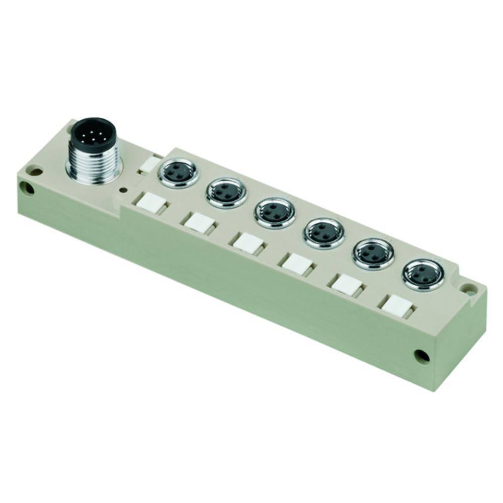 Sensor/aktorbox passiv M8-fordeler med metalgevind SAI-6-S 3P M8 L OL 1932380000 Weidmüller 1 stk