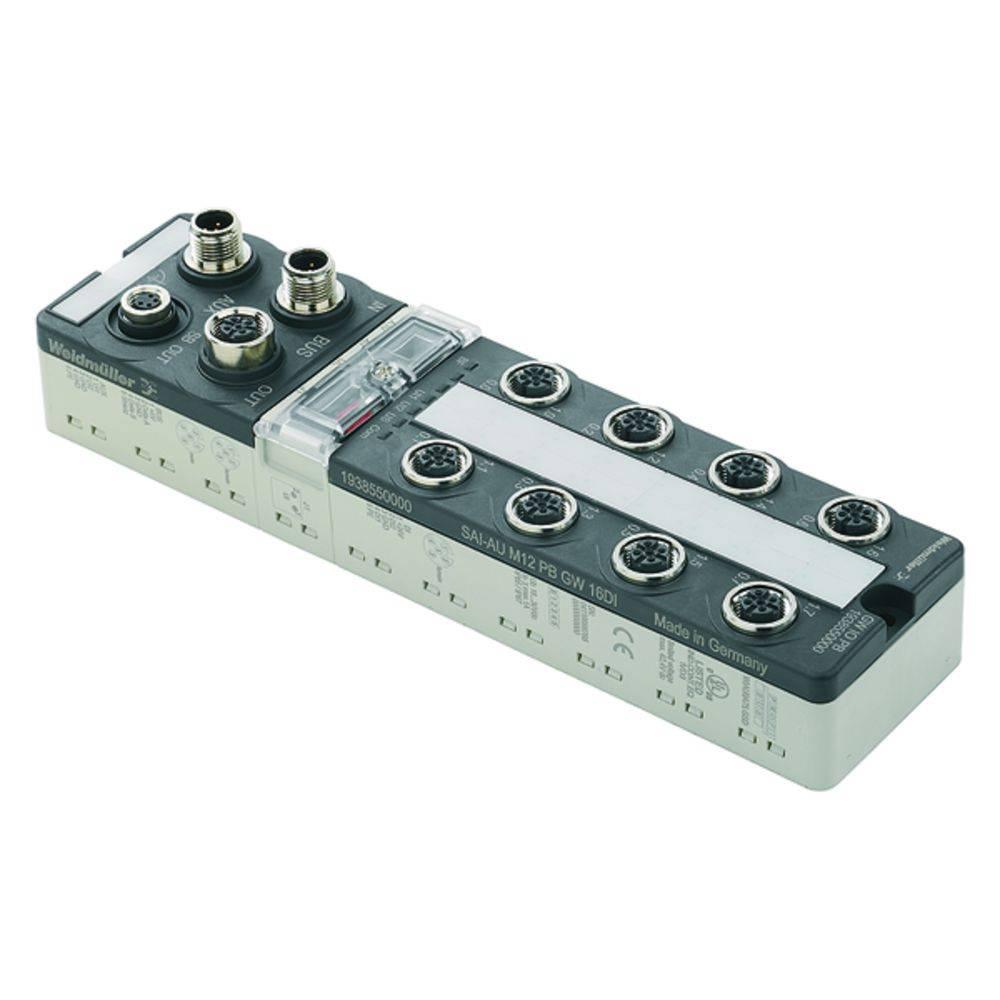 Škatla za senzorje in aktuatorje SAI-AU M12 DN GW 16DI Weidmüller vsebuje: 1 kos