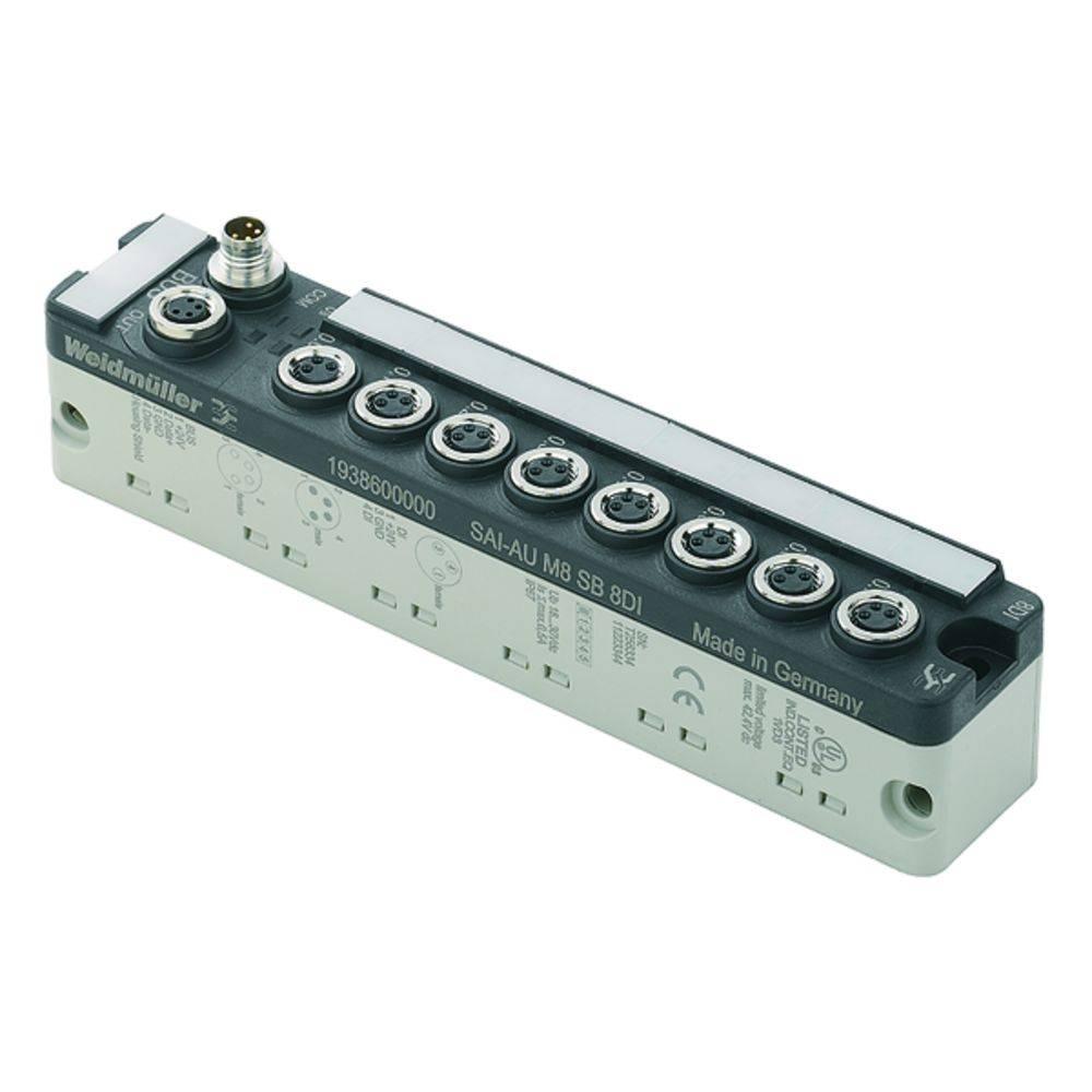Sensor/Aktorbox aktiv M8-fordeler med metalgevind SAI-AU M8 SB 8DI 1938600000 Weidmüller 1 stk