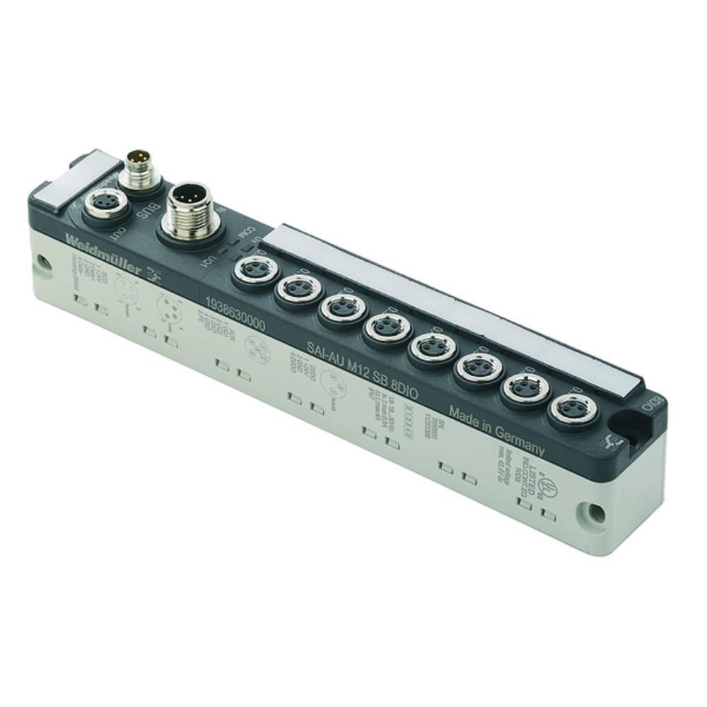 Sensor/Aktorbox aktiv M8-fordeler med metalgevind SAI-AU M8 SB 8DO 2A 1938660000 Weidmüller 1 stk