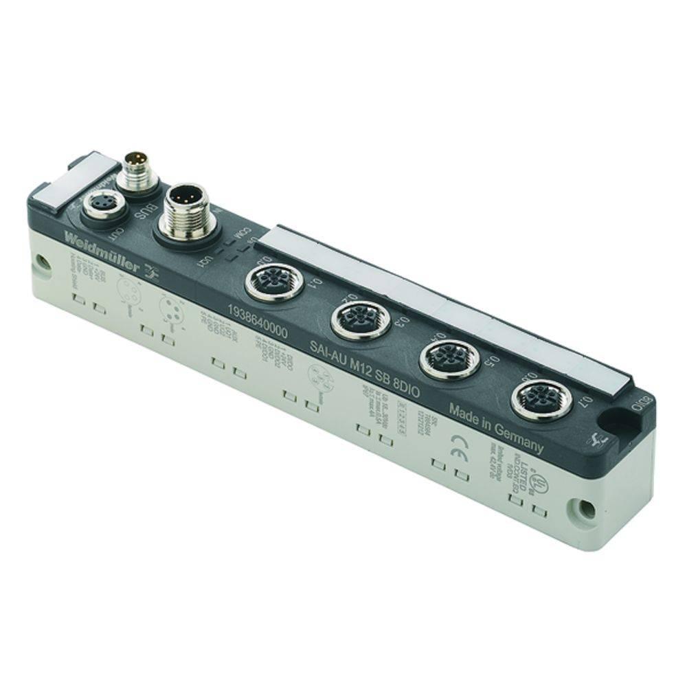 Škatla za senzorje in aktuatorje SAI-AU M12 SB 8DO 2A Weidmüller vsebuje: 1 kos