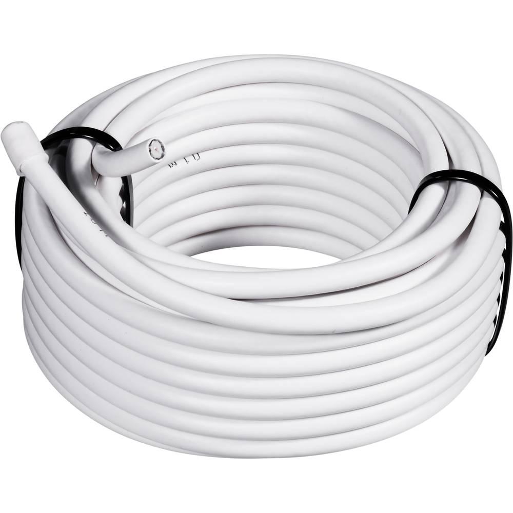Koaksjialni kabel vanjski promjer: 6.6 mm RG6 /U 75 90 dB bijele boje Conrad Components 0806003/25 25 m
