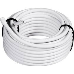 Koaksialni kabel, zunanji premer: 6.60 mm RG6 /U 75 Ω 90 dB bele barve TRU Components 1562120 50 m