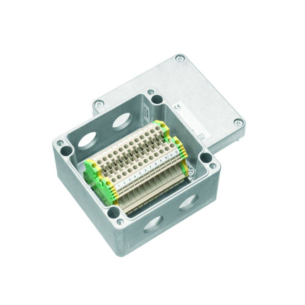 Installationskabinet Weidmüller KLIPPON K41 M25WCSS EX Aluminium 1 stk