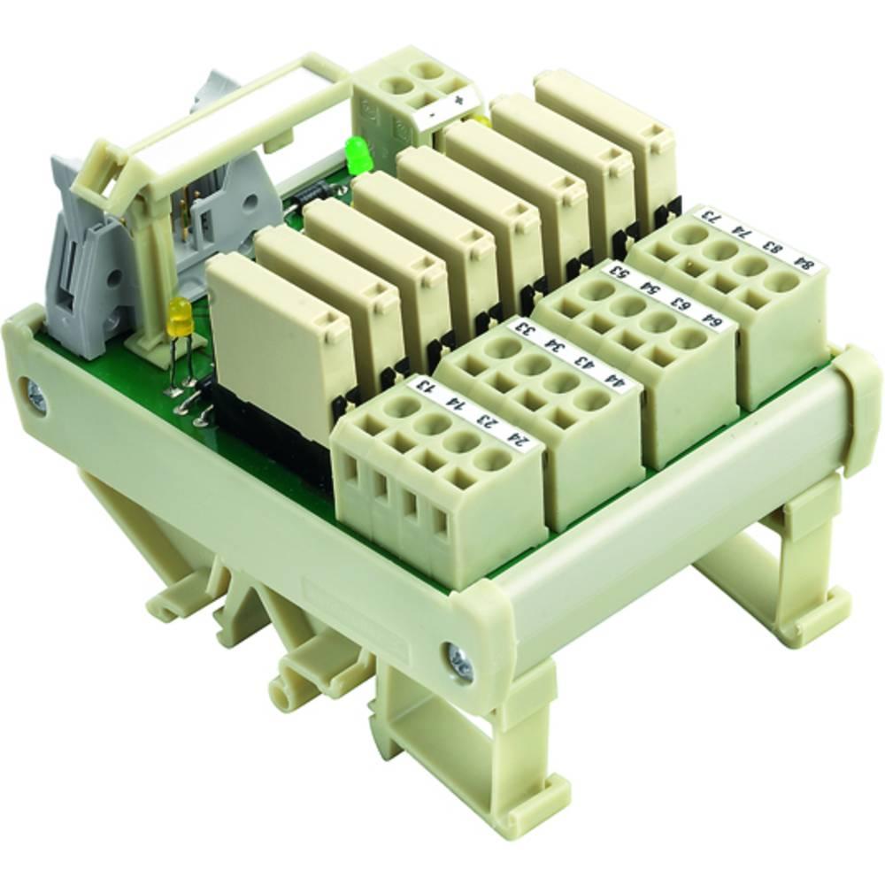 Relaisplatine (value.1292961) bestykket 1 stk Weidmüller RS F10 8R OUT 24VDC 1 Wechsler (value.1345271) 24 V/DC