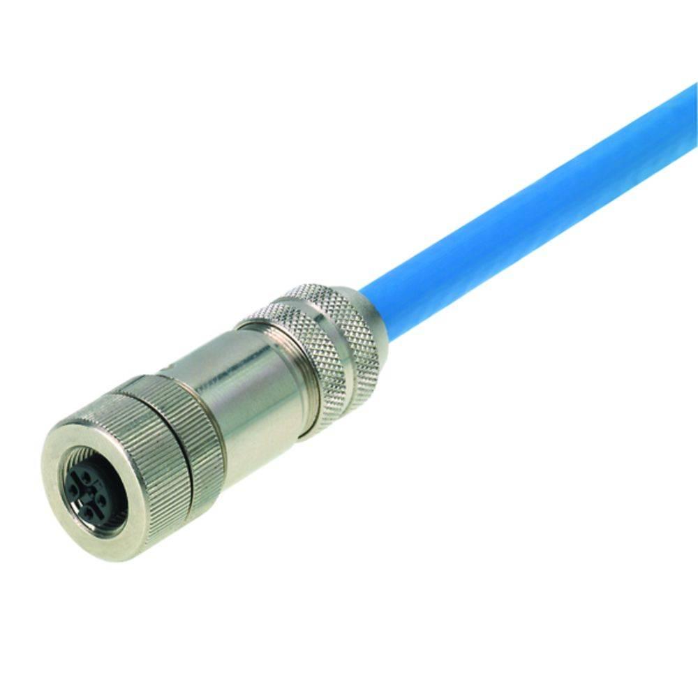 Sensor-, aktuator-stik, M12 Tilslutning, lige Pol-tal (RJ): 4 Weidmüller 8426220000 FBCON M12 4P FM EMC 1 stk