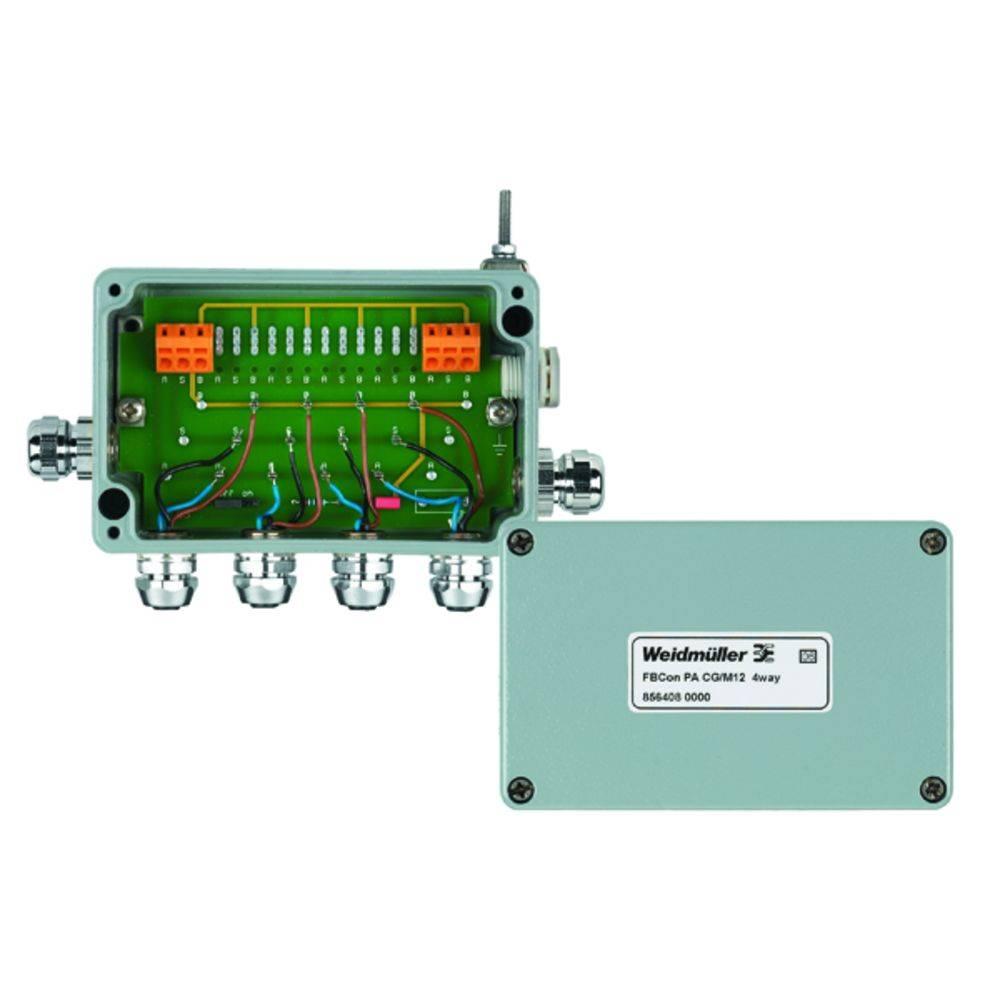 Sensor/aktorbox passiv PROFIBUS-PA standardfordeler EEx(ia) FBCON PA CG/M12 4WAY 8564080000 Weidmüller 1 stk