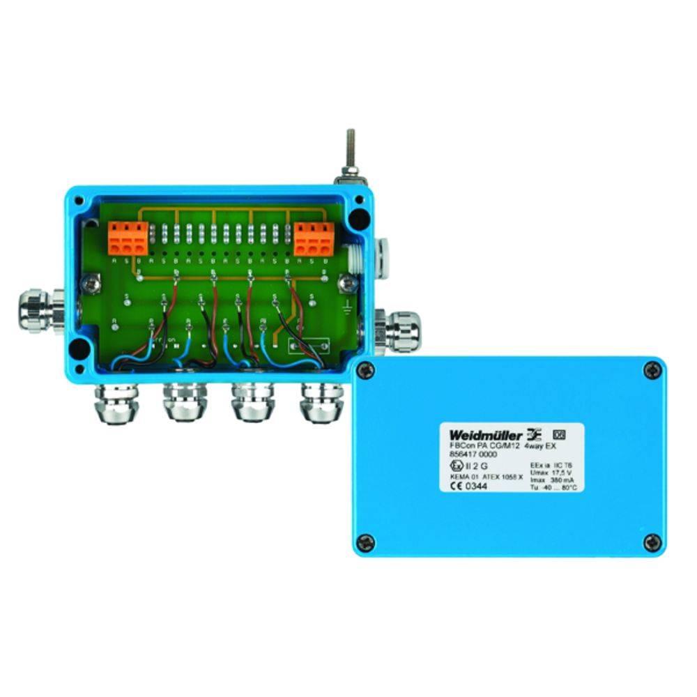 Sensor/aktorbox passiv PROFIBUS-PA standardfordeler EEx(ia) FBCON PA CG/M12 4WAY EX 8564170000 Weidmüller 1 stk
