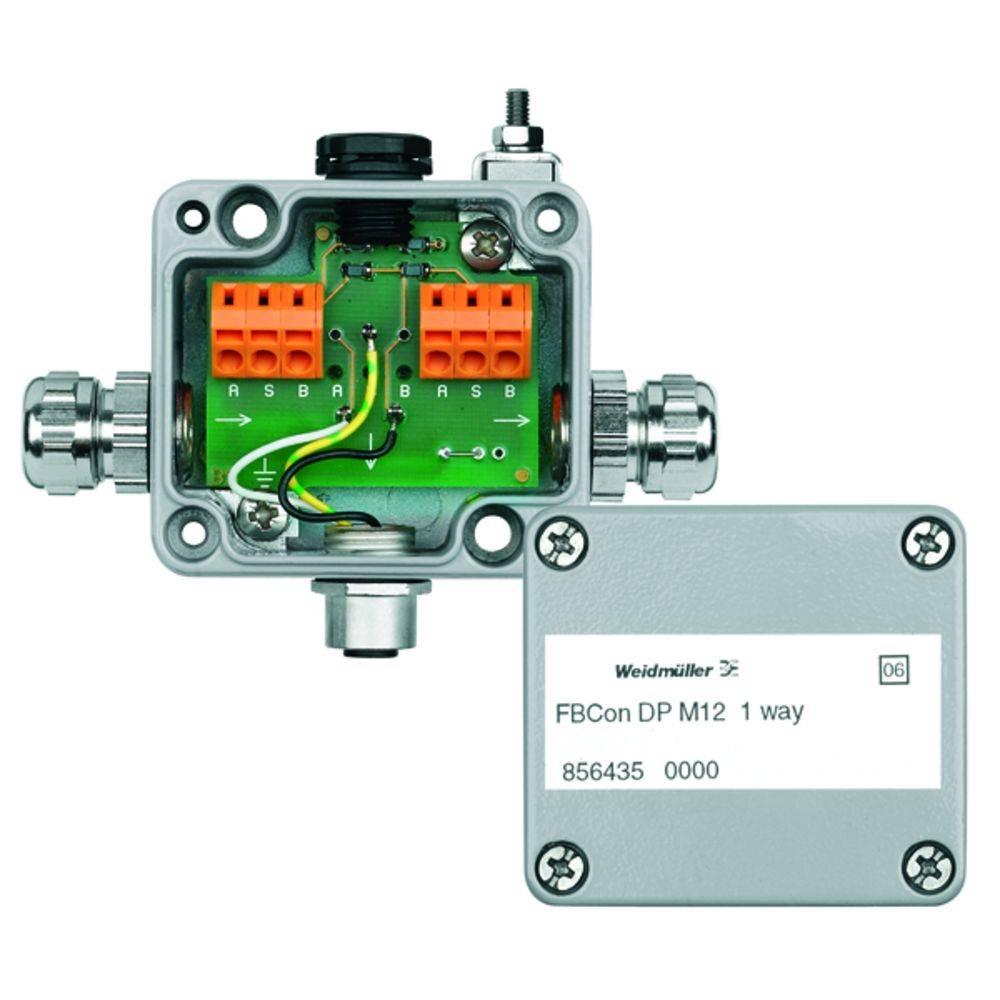 Standardni razdelilnik brez bus priključka FBCON DP M12 1WAY Weidmüller vsebuje: 1 kos