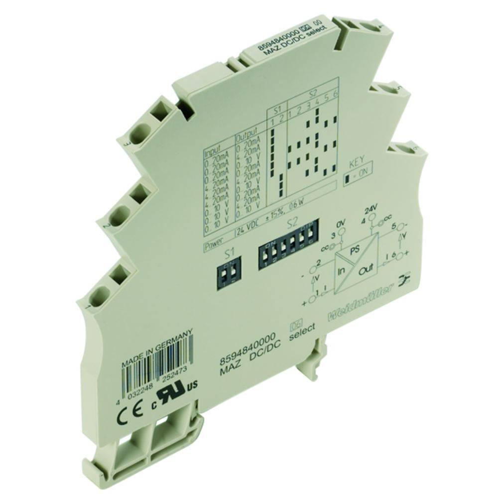 Signalni pretvornik/razdelilnik MAZ DC/DC SELECT kataloška številka 8594840000 Weidmüller vsebuje: 1 kos