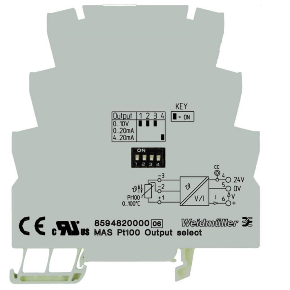 RTD-ločilni pretvornik MAZ PT100 0...100C kataloška številka 8594850000 Weidmüller vsebuje: 1 kos