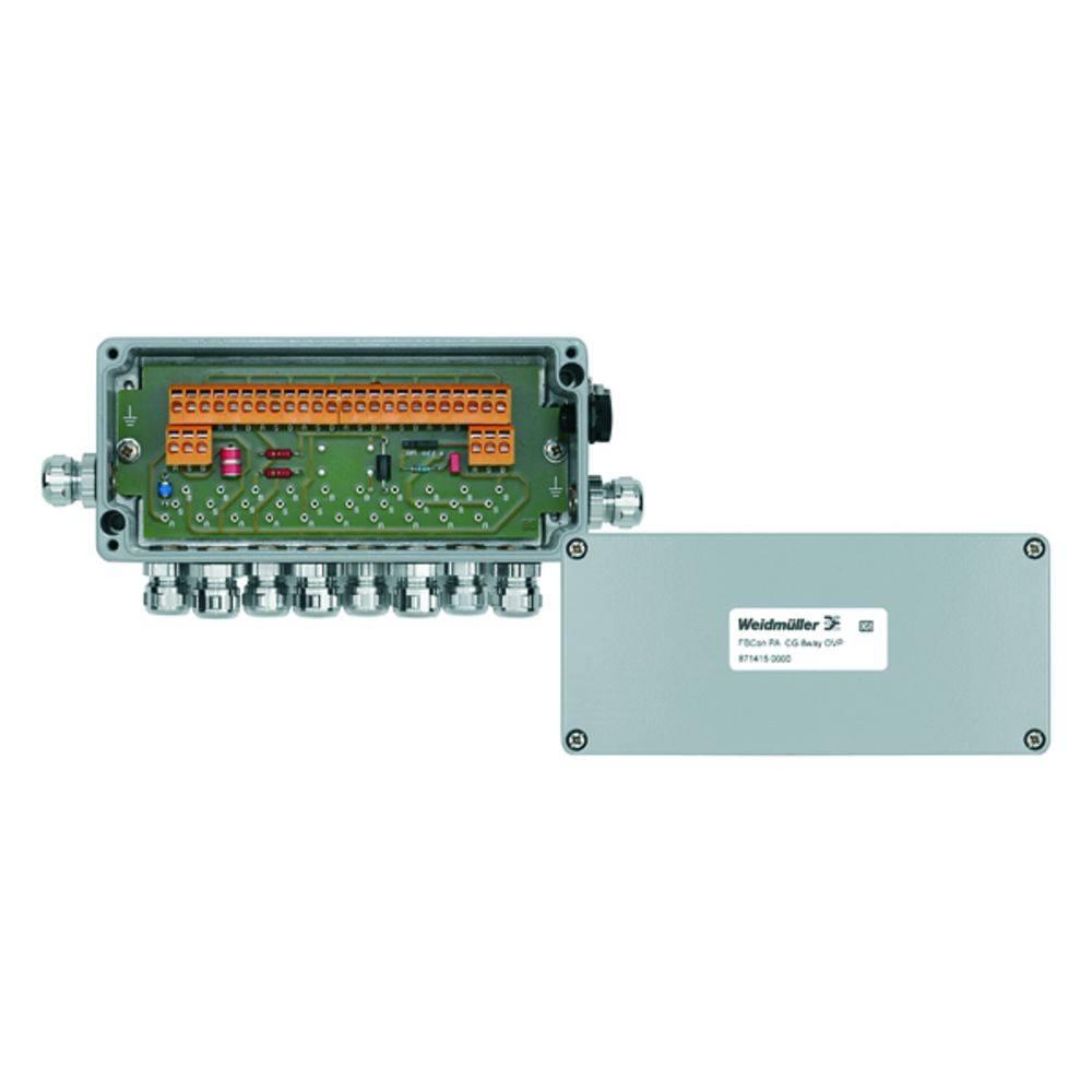 Sensor/aktorbox passiv PROFIBUS-PA standardfordeler med overspændingsbeskyttelse FBCON PA CG 8WAY OVP 8714150000 Weidmüller 1 st