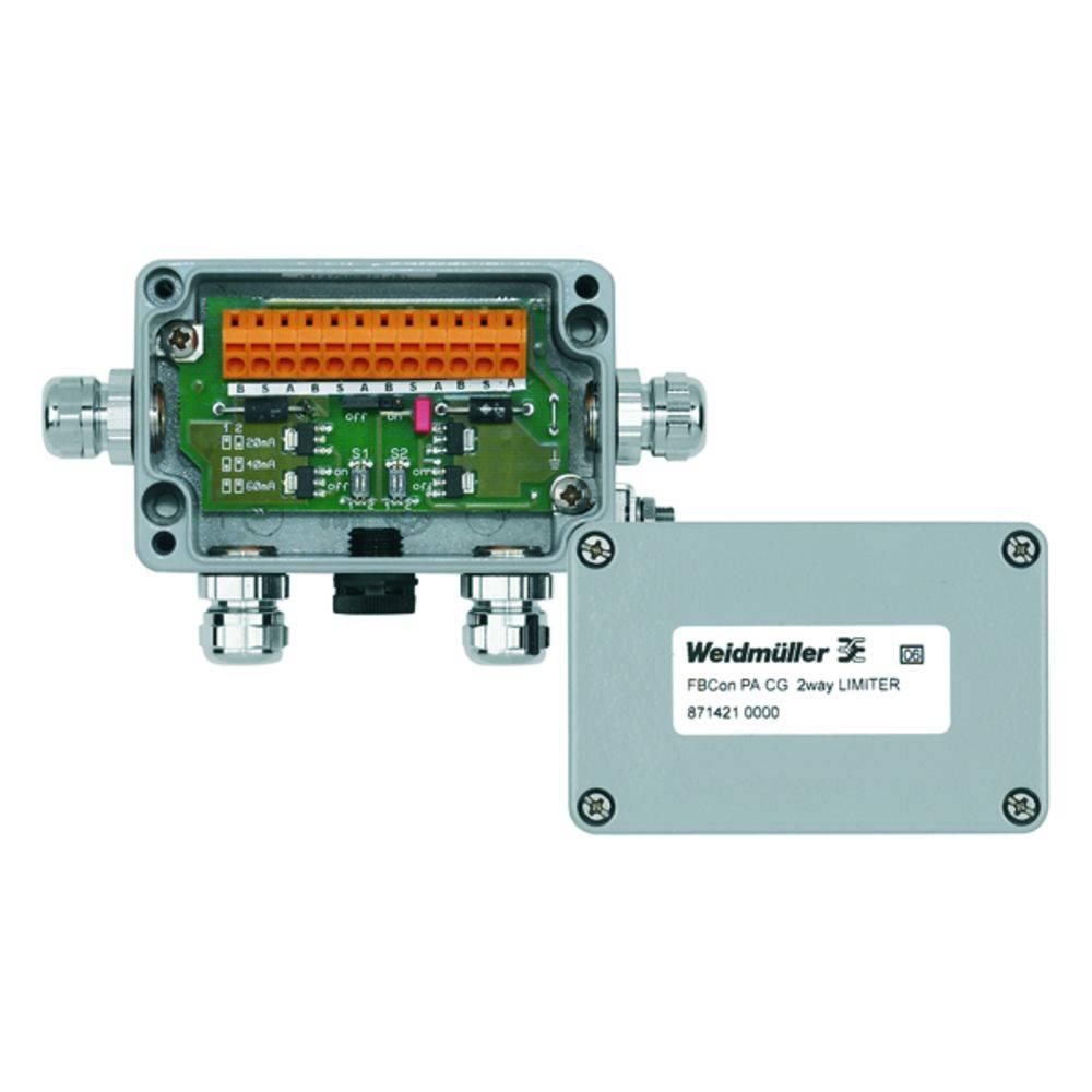 Sensor/aktorbox passiv PROFIBUS-PA standardfordeler med strømbegrænsning FBCON PA CG 2WAY LIMITER 8714210000 Weidmüller 1 stk