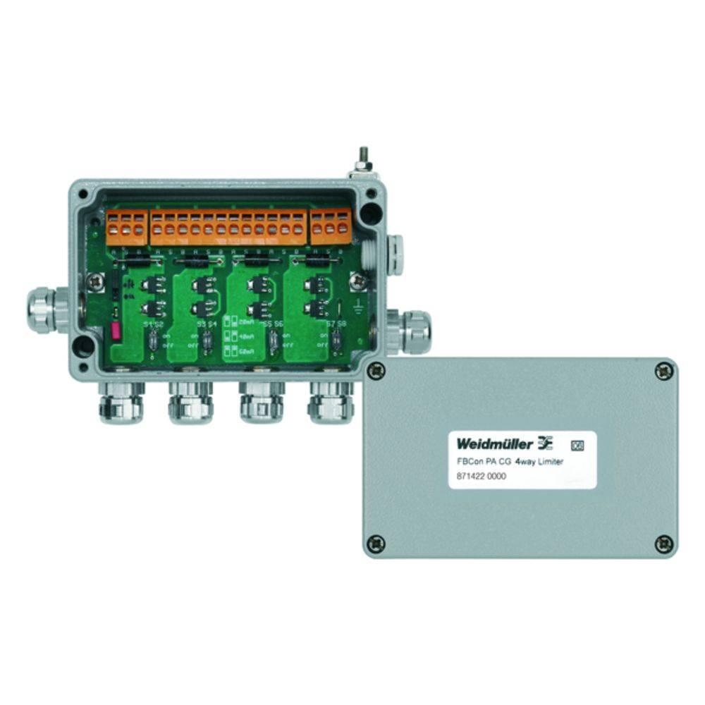 Sensor/aktorbox passiv PROFIBUS-PA standardfordeler med strømbegrænsning FBCON PA CG 4WAY LIMITER 8714220000 Weidmüller 1 stk