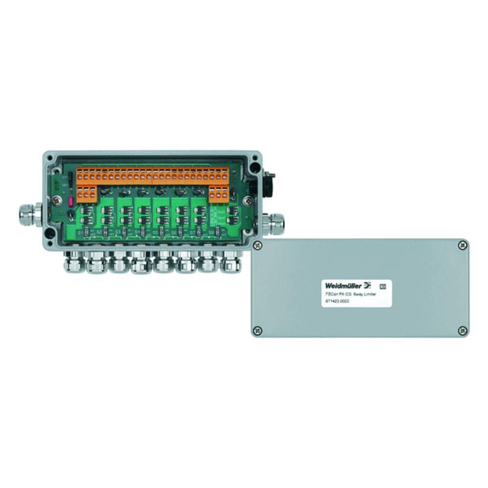 Sensor/aktorbox passiv PROFIBUS-PA standardfordeler med strømbegrænsning FBCON PA CG 8WAY LIMITER 8714230000 Weidmüller 1 stk