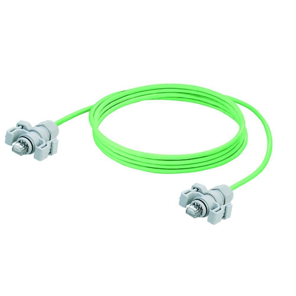 RJ45 omrežni priključni kabel CAT 6A S/FTP [1x RJ45-vtič - 1x RJ45-vtič] 5 m zelen z UL-certifikatom, negorljiv, mit