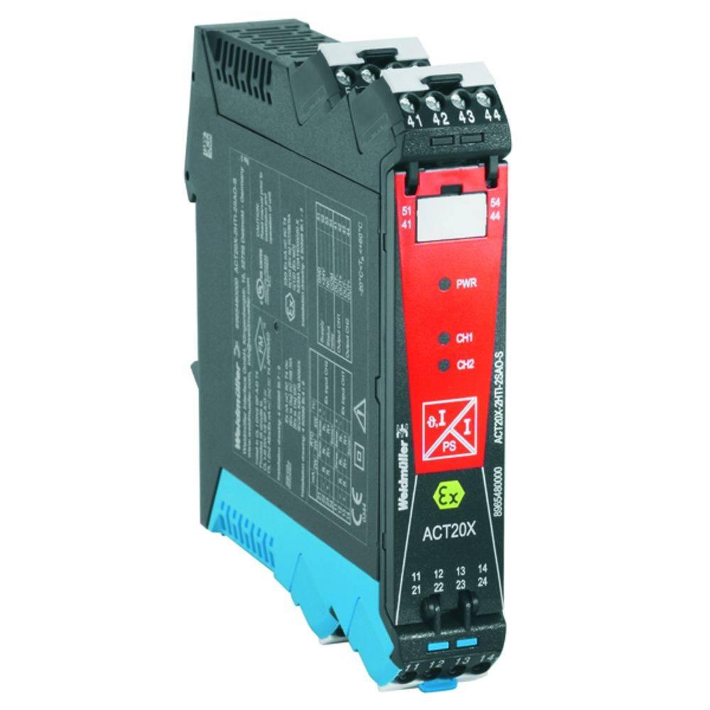 Ex-Signalni pretvornik/razdelilnik ACT20X-2HTI-2SAO-S kataloška številka 8965480000 Weidmüller vsebuje: 1 kos