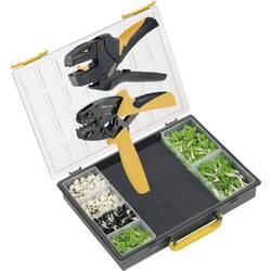 Kliješta za krimpanje u setu, kabelski završeci 6 do 16 mm uklj. kliješta za skidanje izolacije, uklj. krimp sortiment s koferom