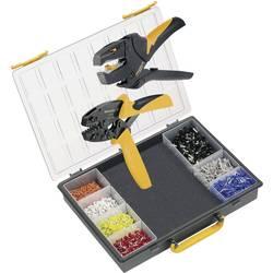 Kliješta za krimpanje u setu, kabelski završeci 0.25 do 10 mm uklj. kliješta za skidanje izolacije, uklj. krimp sortiment s kofe