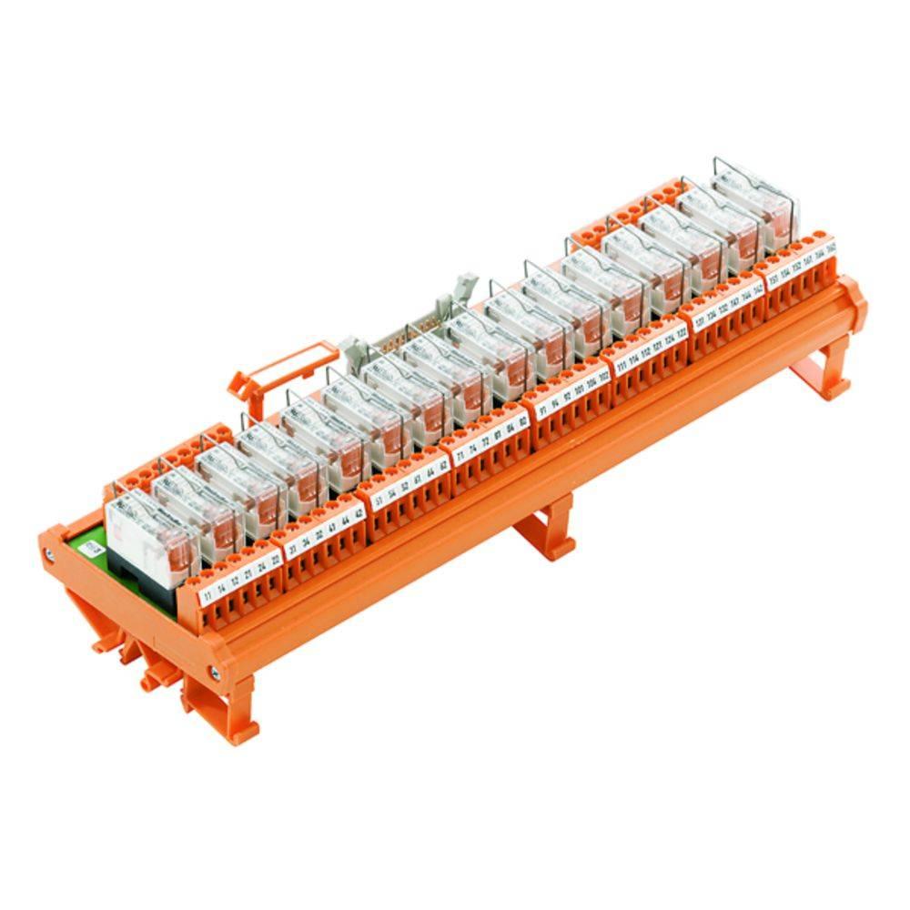 Tiskano vezje za rele, opremljeno 1 kos Weidmüller RSM-16 24V(-/+) 1CO S 250 V/AC