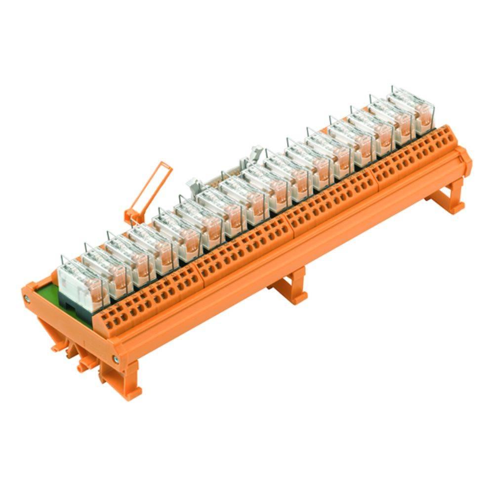 Tiskano vezje za rele, opremljeno 1 kos Weidmüller RSM-16 24V(-/+) 1CO Z 250 V/AC