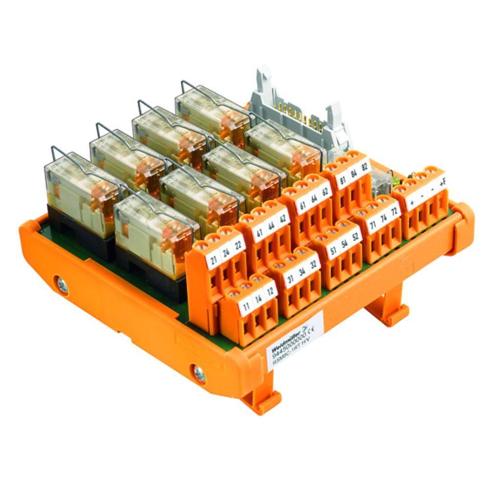 Tiskano vezje za rele, opremljeno 1 kos Weidmüller RSM-8 C 1CO S 250 V/AC