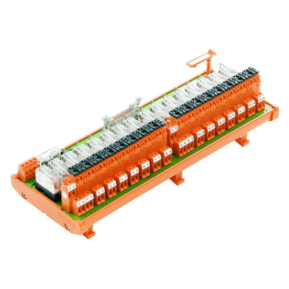 Relæprintplade bestykket 1 stk Weidmüller RSM16 1T/CDE-EV 24V-H/V 250 V/AC