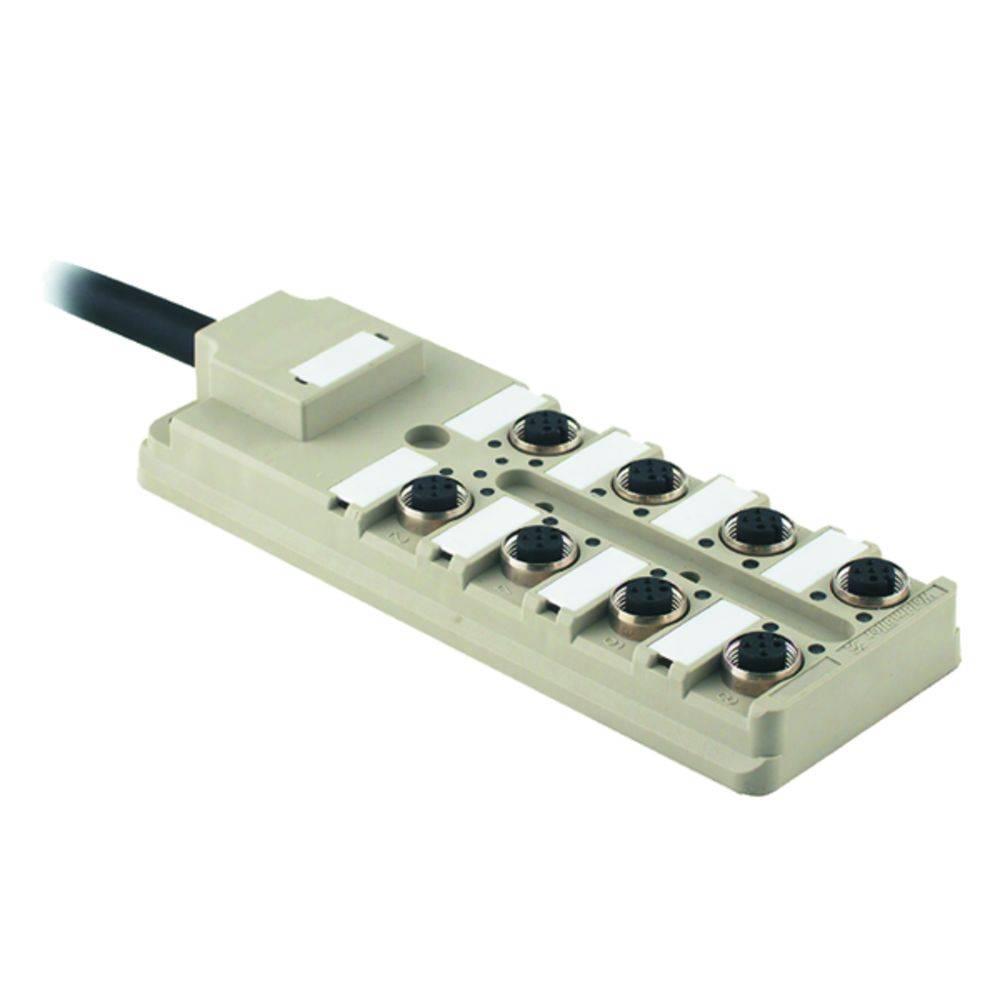 Razdelilnik za pasivne senzorje in aktuatorje SAI-8-F 4P PUR 10M Weidmüller vsebuje: 1 kos