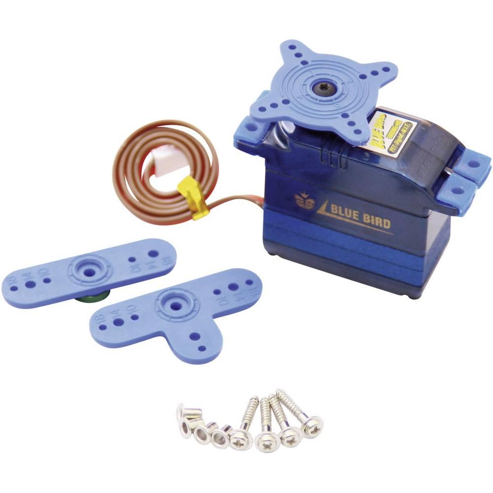Standardni servo Bluebird BMS-660 DMG, dvojni kroglični ležaj, gonilo: kovina, vtični sistem: JR