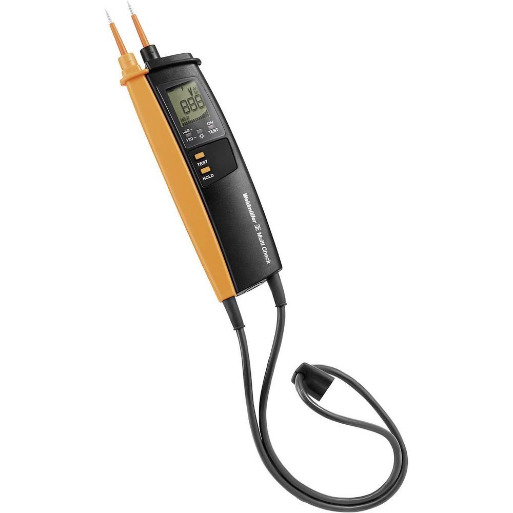 Kal.-ISO Weidmüller MULTI CHECK 2-polni tester napetosti, 5 - 500 V AC/DC LCD CAT III 690 V, CAT IV 600 V